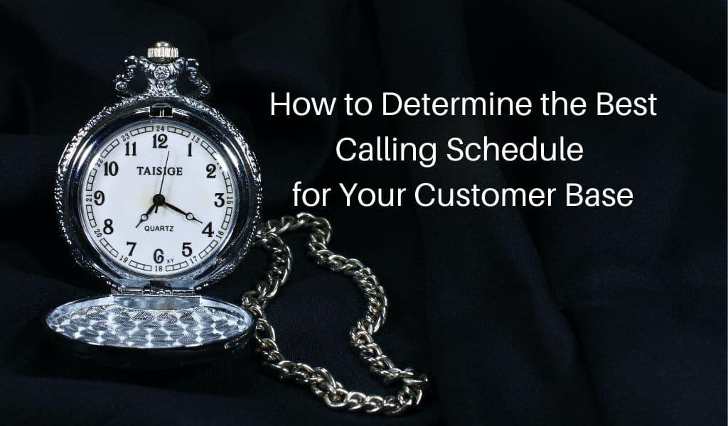 calling schedule